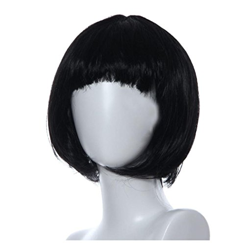 Short Wig, Inkach Women Lace Front Wigs Bob Straight Synthetic Hair Wig (Black) - Costumes With Black Bob