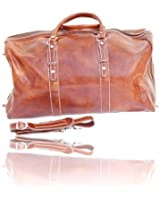 Timmari Italian Leather Large Travel Duffel Bag