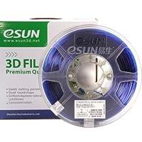 eSUN 3D 1.75mm PETG Blue Filament 1kg (2.2lb), PETG 3D Printer Filament, 1.75mm Semi-Transparent Blue by ESUN