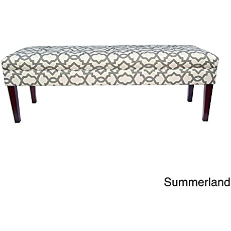 MJL Furniture Designs MJL Furniture Kaya Sheffield 10 Button Tufted Upholstered Long Bench GREY