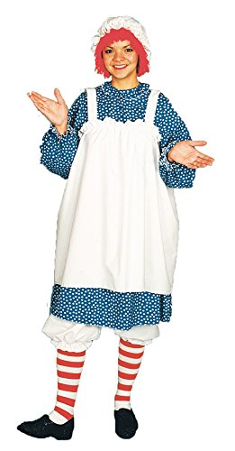 UHC Women's Raggedy Ann Rag Doll Theme Party Fancy Dress Halloween Costume, STD (10-14)