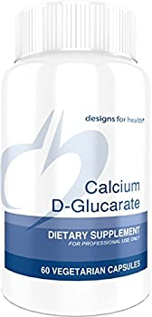 Designs for Health - Calcium D-Glucarate - 1200mg High Dose, Liver Support, 60 Capsules