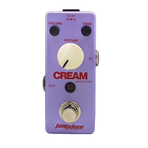 Tom'sline Distortion Effect Pedal FIRE CREAM Rich and Creamy Fuzz Tone Based on the 1st Version of EH Big Muff Guitar Pedal