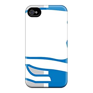 Durable Cell-phone Hard Covers For Iphone 4/4s With Custom Vivid Detroit Lions Series VIVIENRowland
