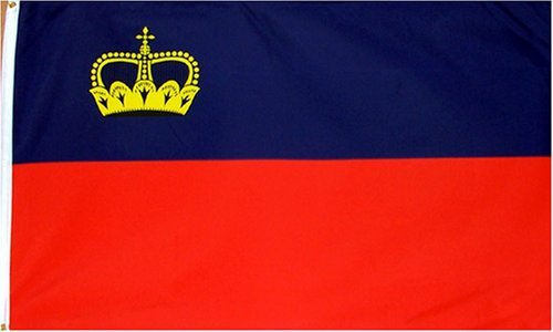 Liechtenstein National Country Flag - 3 foot by 5 foot Polyester (New)