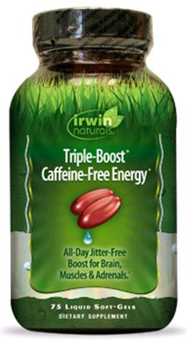 Irwin Naturals Triple Boost caféine Free Energy, 75 gélules