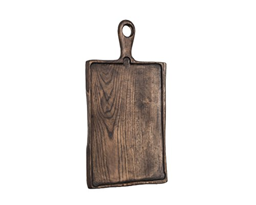 arge Steak Serving Board (Wooden Serving Board, Vintage Wood Board, Chopping Board, Bread Board) 17-Inch, Solid Oak Wood ()