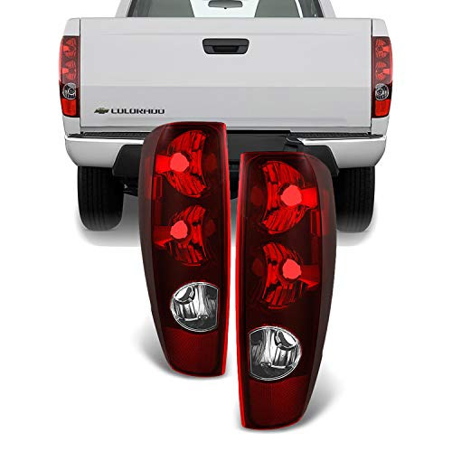 (For Chevy Colorado/GMC Canyon Truck Red Tail Lights Driver Left + Passenger Right Replacement Pair)