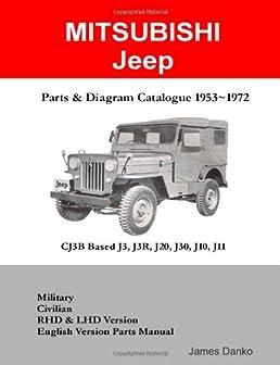 mitsubishi jeep cj3b based j3r j20 j30 parts diagram manual 1953 rh amazon com Jeep Parts Diagram Jeep YJ Parts