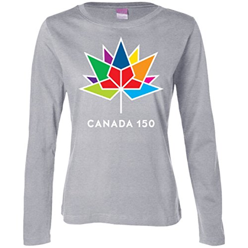 150 MultiColour Maple Ladies Long Sleeve Cotton T-Shirt - Canada supplier