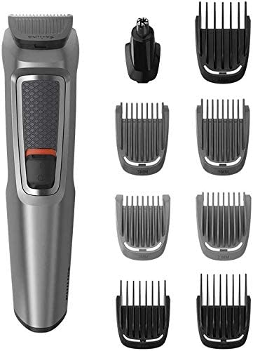 Philips MULTIGROOM Series 3000 MG3722/33 cortadora de pelo y maquinilla Gris Recargable - Afeitadora (Gris, Rectángulo, Nariz, Acero inoxidable, 60 min, Batería integrada): Amazon.es: Hogar