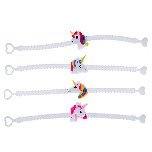 OBI Unicorn Novelty Party Favors 1dozen Rubber Wristbands, Birthday Party Favors Supplies for Kids Girls, Prizes Gifts, Reward Box Fillers (Bracelet) ()
