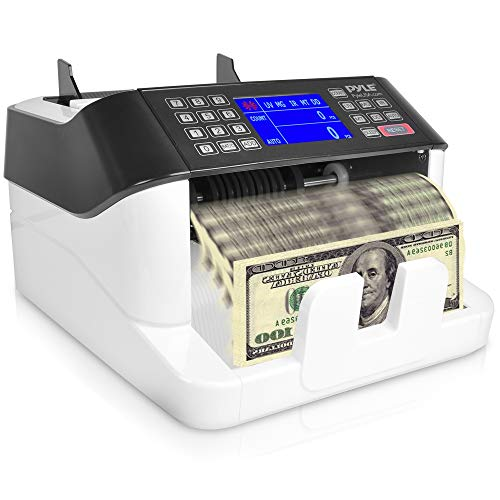 - Money Counter with Counterfeit Detector - Automatic Digital Bill Counter, Cash Counting Machine w/Top Loader, Detachable LCD Display, Counts U.S Canadian Dollar, Euro, Pound Banknote - Pyle PRMC720.6