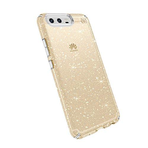 Speck Presidio Funda para Huawei P10 (Clear), Transparente Klar/Gold Glitter