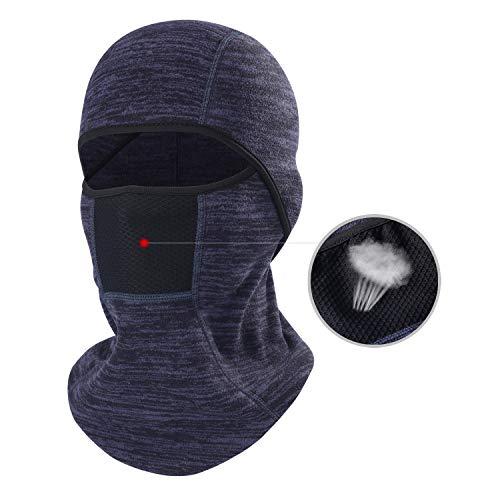 THINDUST Winter Balaclava - Fleece Motorcycle Skull Full Face Mask Thermal Windproof Ski Head Hood Men ()
