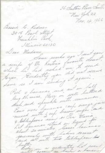- Leo Rosten 1966 Recipe For Banana Dessert From Housekeeper & Cook