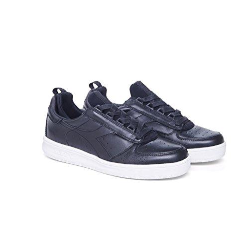 20117058301C0200 Diadora Heritage Sneakers Hombre Piel Negro C0200 BLACK