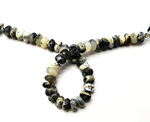 Mine Offer To Buy 1 Strand Natural Dendrite Opal 7.5-8 mm Rondelle Faceted Beads 8 inch Long Powered By GEM MART U.S.A.