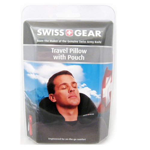 SWISS TRAVEL PILLOW POUCH INFLATIBLE