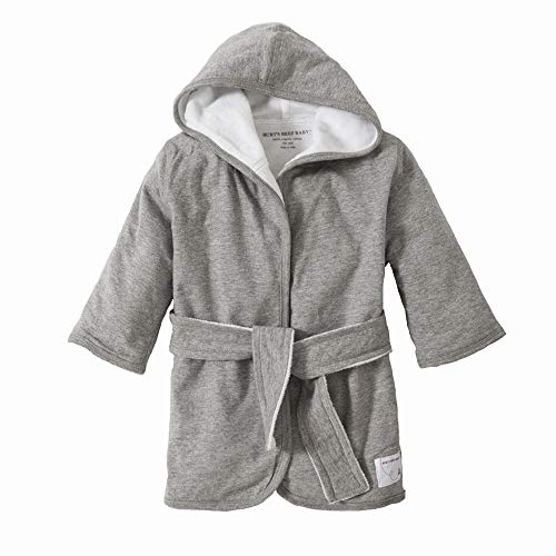 - Burt's Bees Baby - Bathrobe, Infant Hooded Robe, Absorbent Knit Terry, 100% Organic Cotton, 0-9 Months (Heather Grey)