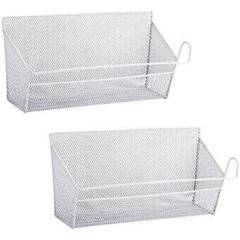 Amazon.com: RuiyiF 2 Pack Bunk Bed Storage Basket,Dormitory Bedside Storage Baskets Metal Desk