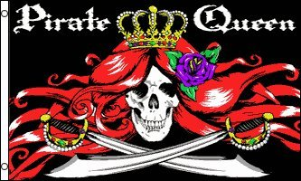 - Pirate Queen Flag 3x5ft Poly