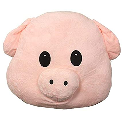 Amazon Com Poofy Moji Emoji Pillow Pig Piggy Super Cute Plush Toy