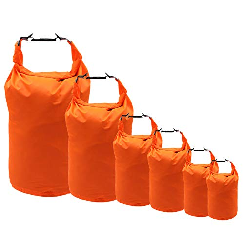 iOutdoor Products 2L/5L/10L/20L/40L/70L Waterproof Dry Bag,Roll Top Dry Compression Sack Keeps Gear Dry for Beach,Rafting,Boating,Hiking,Swimming,Camping with Taffeta Abrasion Resistant