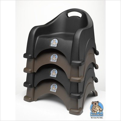 Koala Kare KB327-02 Booster Chair - Black (2 Pack)
