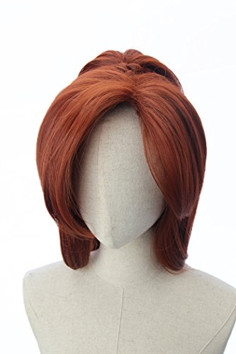Copper Red Short Hair Wigs Ponytail Anastasia Costume Cosplay Wig