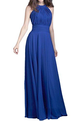 La_Marie Braut Royal Blau Elegant Chiffon Brautjungfernkleider Partykleider Promkleider Lang A-linie Rock