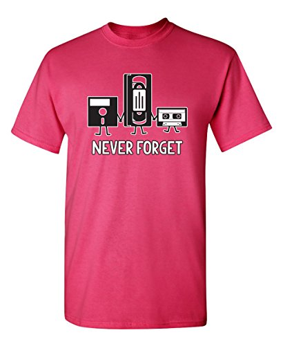 Never Forget Funny Novelty Graphic Sarcastic T Shirt 3XL Pink]()