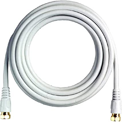 RCA 12 RG-6 Digital Coaxial Cable With Gold Plated F Connectors (White