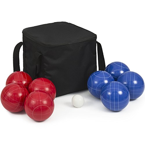 Best Choice Products 90mm Portable Lawn Games Resin Ultimate Bocce Balls Set w/ 9 Balls Carrying Case - Multicolor by Best Choice Products
