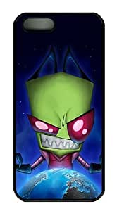 Alien Invader Zim Polycarbonate Custom iPhone 5S/5 Case Cover - Black