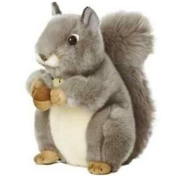 All Seven @ New Arrival Gray Squirrel Plush Stuffed Animal Toy - Bat Wolf Australian