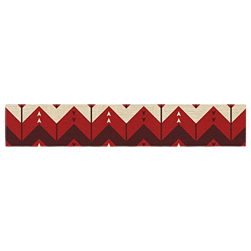 KESS InHouse Nick Atkinson ''Chevron Dance Red'' Table Runner, 16'' x 180'' by Kess InHouse