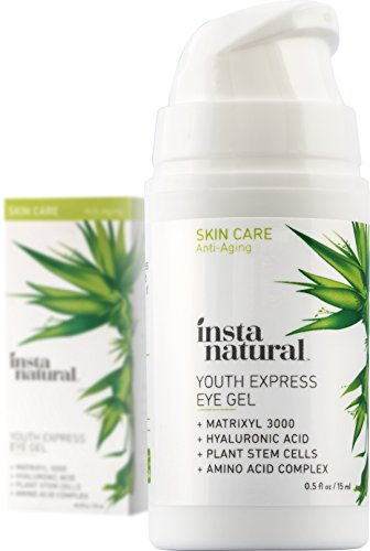 InstaNatural Eye Gel Cream - Wrinkle, Dark Circle, Fine Line, Puffiness, Redness Reducer - Anti Aging Blend for Men & Women with Hyaluronic Acid - Fight Bags & Lift Skin Under Eyes - 1.7 oz
