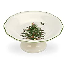 Spode Christmas Tree Sculpted Footed Candy Dish, 7-Inch