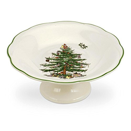 Spode Christmas Tree Sculpted Footed Candy Dish, 7-Inch ()