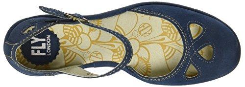 Fly London Yuna, Zapatos de Tacón con Punta Cerrada Para Mujer Azul (Blue)
