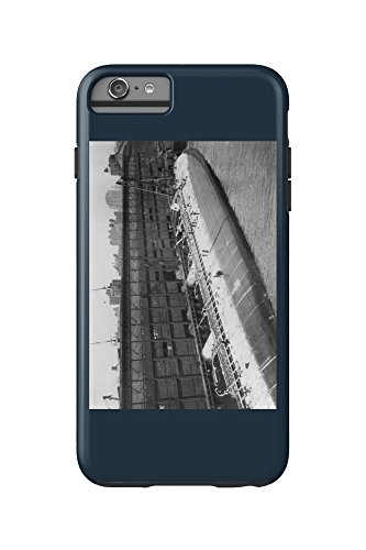 Ocean Liner SS St. Paul on Her Side in the North River NYC Photo (iPhone 6 Plus Cell Phone Case Cell Phone Case, - North Side River