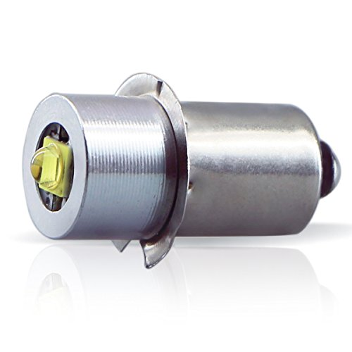 LudoPam High Power LED Upgrade Bulb 3W DC 4-12V Replacement Part LED Conversion Kit Bulbs 3-6 Cell C&D for MagLite Flashlights Torch ()
