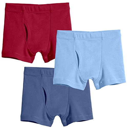 City Threads Big Boys Organic Cotton Boxer Brief for Sensitive Skin and SPD Sensory Friendly Clothing, 3Pack Classics, 12