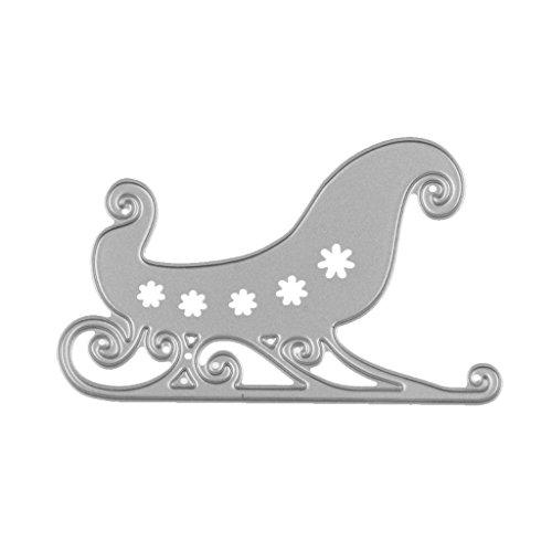 SM SunniMix Metal Cutting Dies Embossing Stencil Die, 22 Styles Available - Santa Claus Sleigh