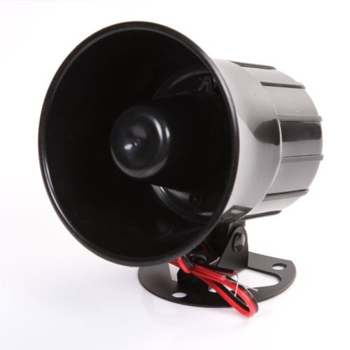 Wen&Cheng 12V Siren Air Horn Speaker for Car Auto Van Truck PA System15W Loud Electric Alarm