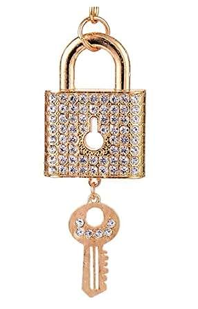 Giftale Key and Lock Keychain for Women Cute Bag Charms Crystal Rhinestone Pendant Car Key Ring