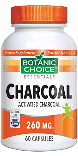 Botanic Choice Activated Charcoal Capsules 260 mg,60 Capsules ()