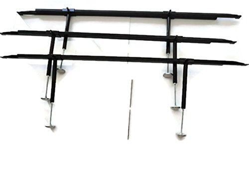 Universal Bed Slats Center Support System with Adjustable Steel Cross Rails with 6 Verticle Support Legs