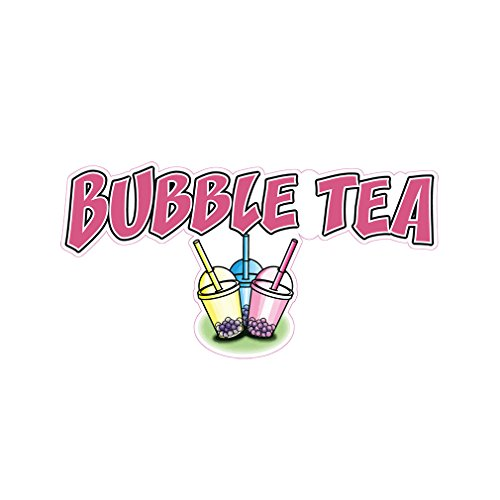 Bubble Tea Concession Restaurant Die-Cut Window Static Cling 24 inches Inside Glass